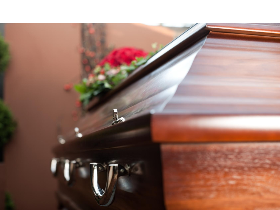 close up photo of a shiny wood casket | Buying a casket online | Overnight Caskets